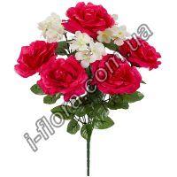 Розы и герань   10шт