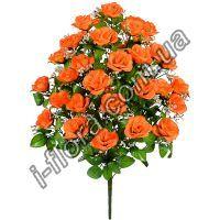 Букет роз с гипсофилой   5шт