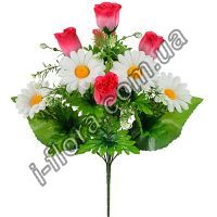 Букет роз с ромашкой   20шт
