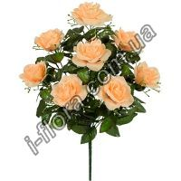 у2001 Букет роза с кашкой   10шт