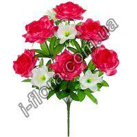 580 Букет розы и колокольчики   10шт