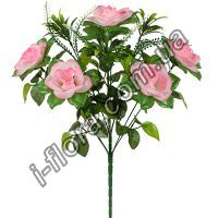 у8025  Букет роз с пышной зеленью   10шт