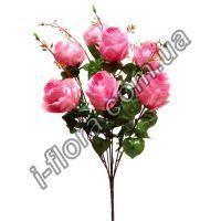 Букет розы с ветками   10шт