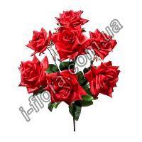 Букет атласных роз   10шт