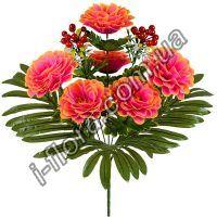 у1052   Букет хризантемы с калиной 51см   10шт