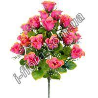 у1057 Букет атласные бутоны роз с кашкой 53см    10шт