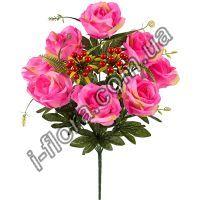 у111 Букет роз с калиной 57см  10шт