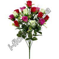 131 Роза бутон атласный  67см   6шт