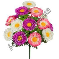у5012  Хризантемы трехцветные  49см   10шт