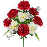 у5602  Букет розы с орхидеями   54см   10шт