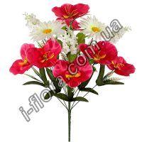 у6013 Букет композиция орхидея,ромашка,сирень  56см    8шт