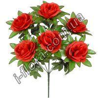 у6064  Букет розы нарядные 7-ка   50см   20шт