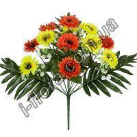 у7046  Букет хризантема цветная микс  43см  12шт