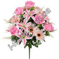 у9002 Композиция хризантема, пионы и лилии  63см    5шт