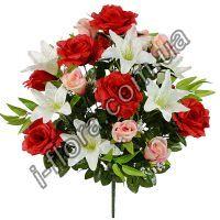 у9003 Композиция бутоны, розы и лилии 60см   5шт