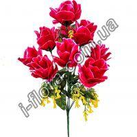 S-92а946-9     Букет искусственные розы   52см    10шт