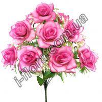 Роза на пластиковой подложке      47см   20шт