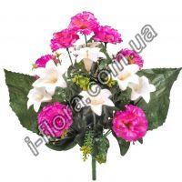 Гвоздика с лилиями   42см    10шт