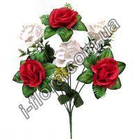Роза с нарциссами     37см   20шт