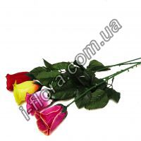 Роза бутон одиночная атлас   55см  20шт