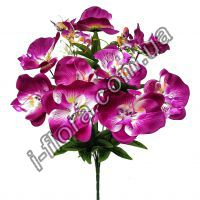 Орхидеи с бабочками  51см   20шт