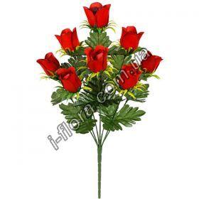 у1063  Букет бархатных роз на розетки   10шт