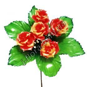 Роза пластик  бордюр 22см    100шт