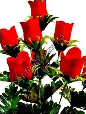 Букет бархатных роз на розетки   10шт